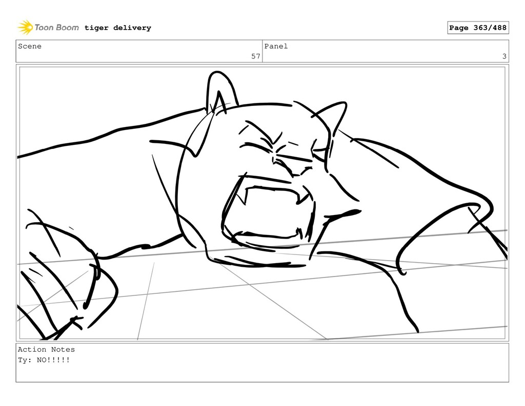 Scene 57 Panel 3 Action Notes Ty: NO!!!!! tiger...
