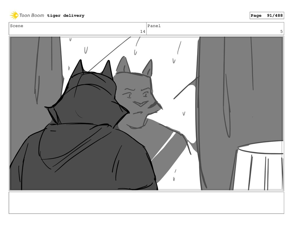 Scene 14 Panel 5 tiger delivery Page 91/488