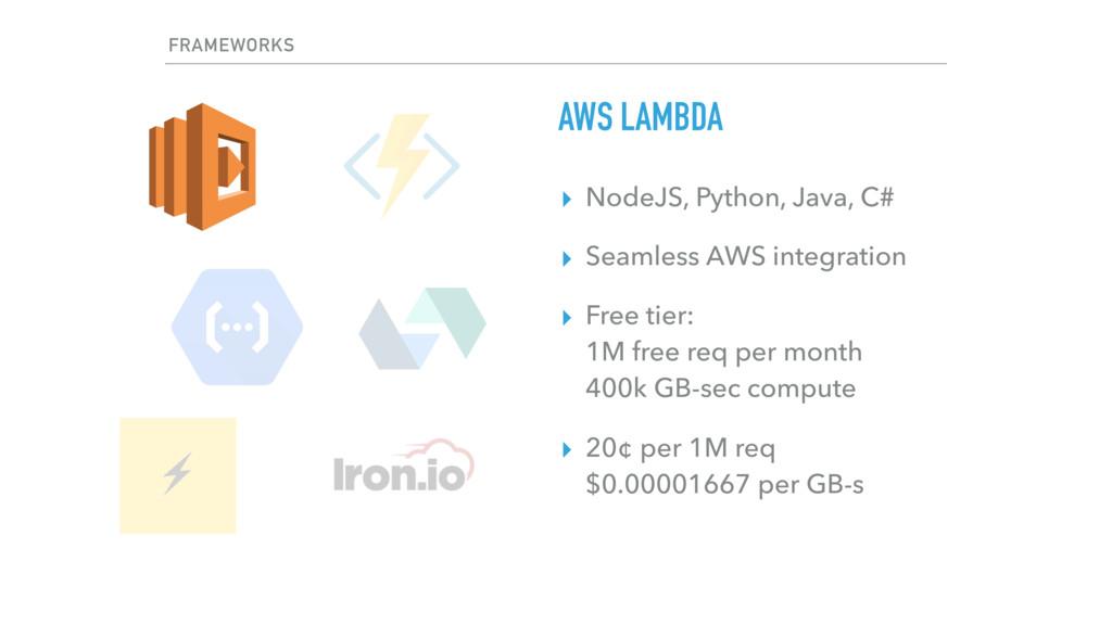 ▸ NodeJS, Python, Java, C# ▸ Seamless AWS integ...