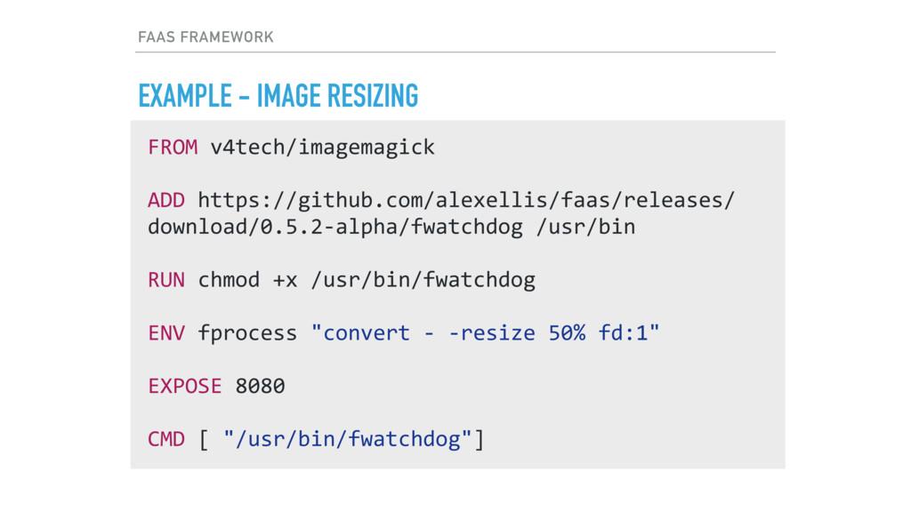 FAAS FRAMEWORK EXAMPLE - IMAGE RESIZING FROM v4...