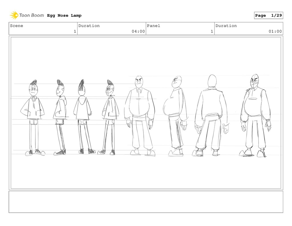 Scene 1 Duration 04:00 Panel 1 Duration 01:00 E...