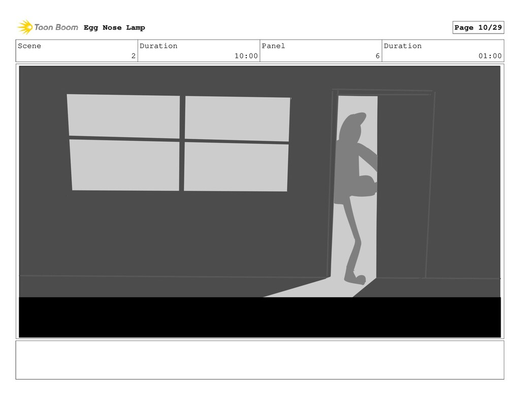Scene 2 Duration 10:00 Panel 6 Duration 01:00 E...