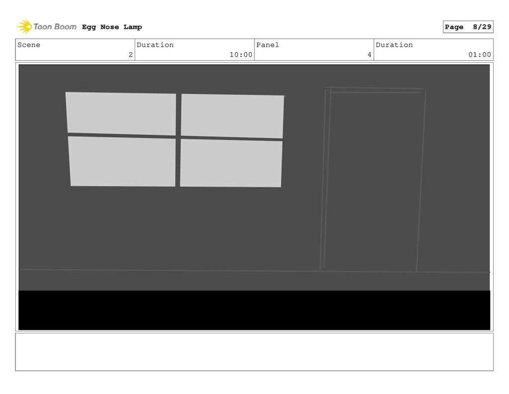 Scene 2 Duration 10:00 Panel 4 Duration 01:00 E...