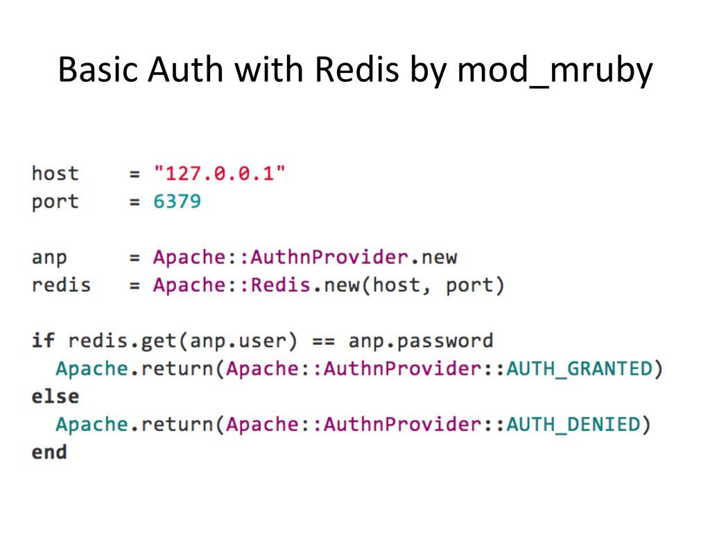 Basic Auth with Redis by mod_mru...