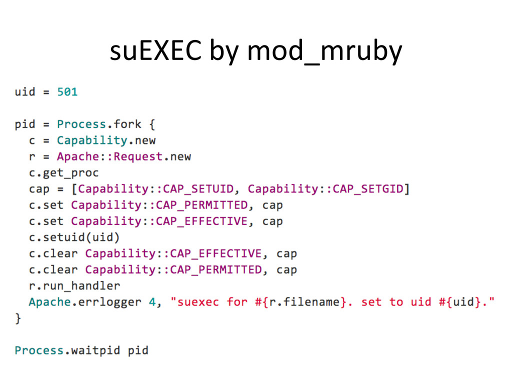 suEXEC by mod_mruby