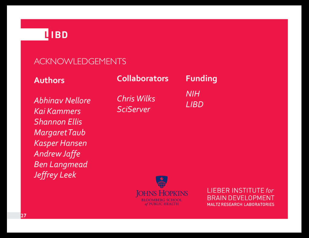 ACKNOWLEDGEMENTS Authors Abhinav Nellore Kai Ka...