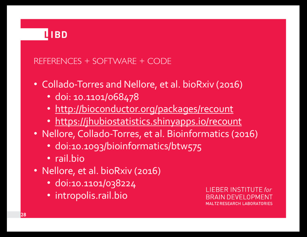 REFERENCES + SOFTWARE + CODE • Collado-Torres a...