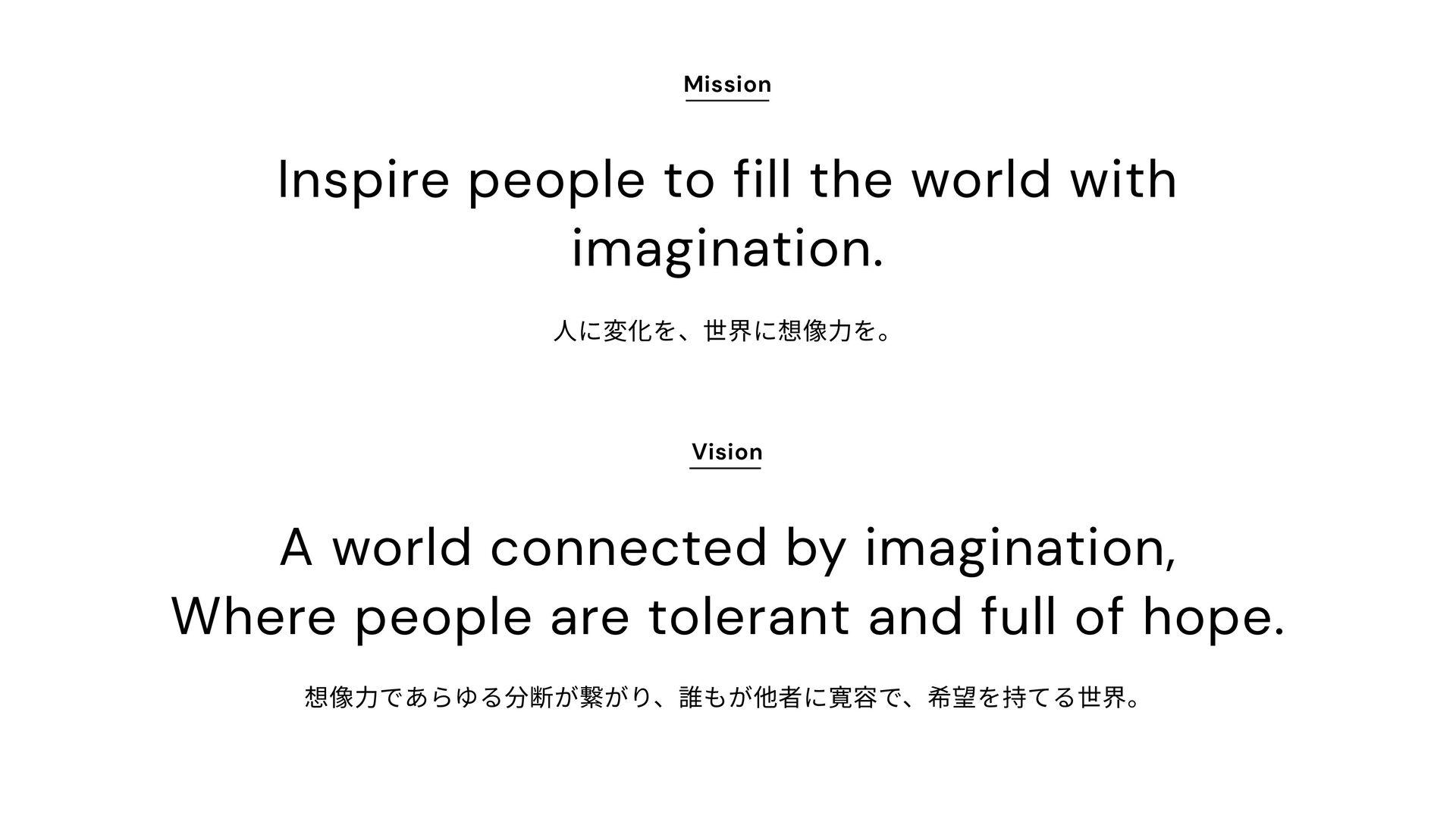 Mission, Vision, Value | 010 اۀ͕ۀΛ௨ͯ͠ϛογϣϯΛ͠...