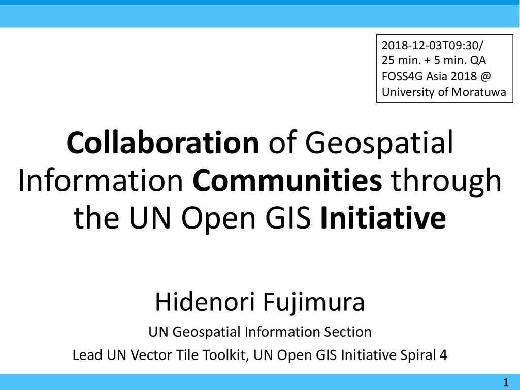 Collaboration of Geospatial Information Communi...