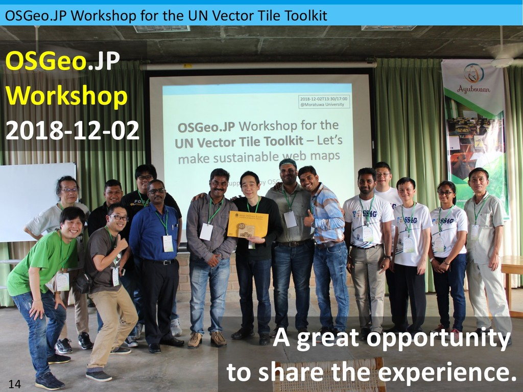 OSGeo.JP Workshop for the UN Vector Tile Toolki...