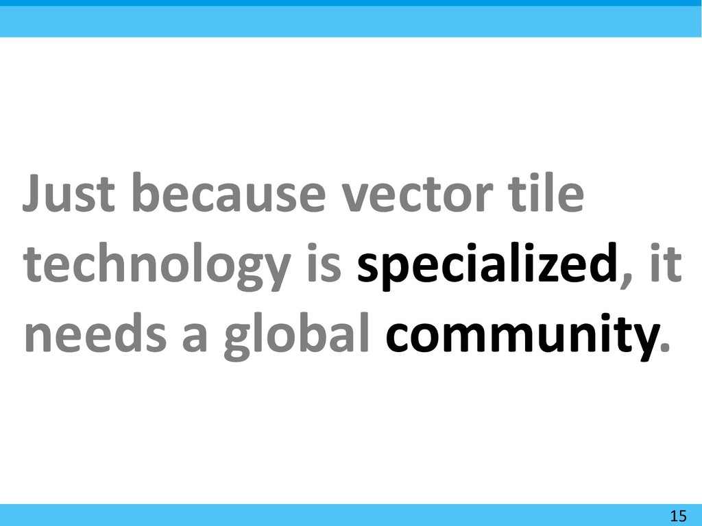 15 Just because vector tile technology is speci...