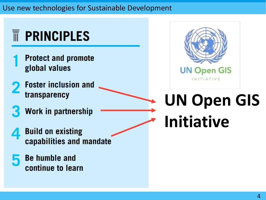 Use new technologies for Sustainable Developmen...