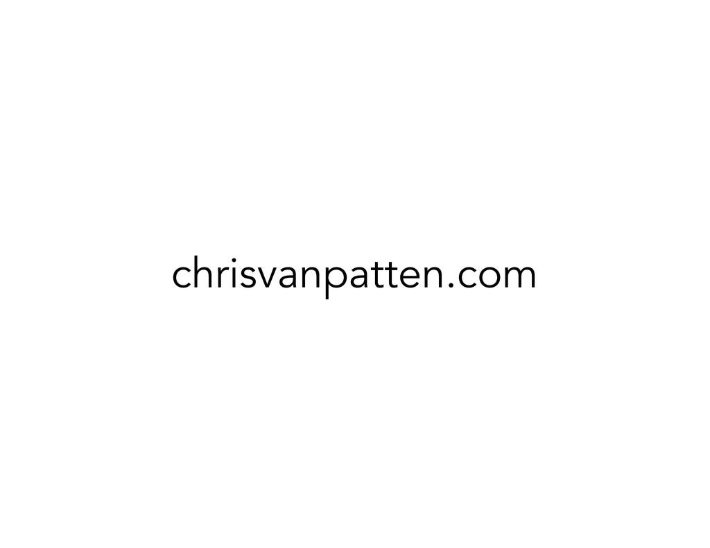 chrisvanpatten.com