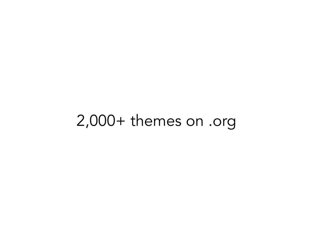 2,000+ themes on .org