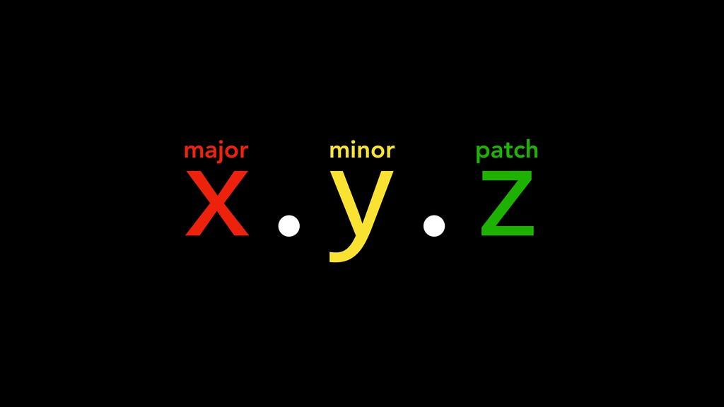 x.y.z major minor patch