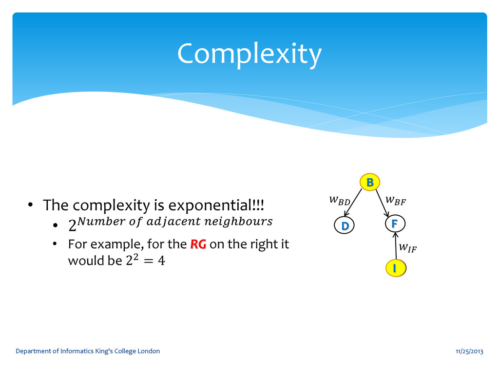 Complexity 11/25/2013 Department of Informatics...