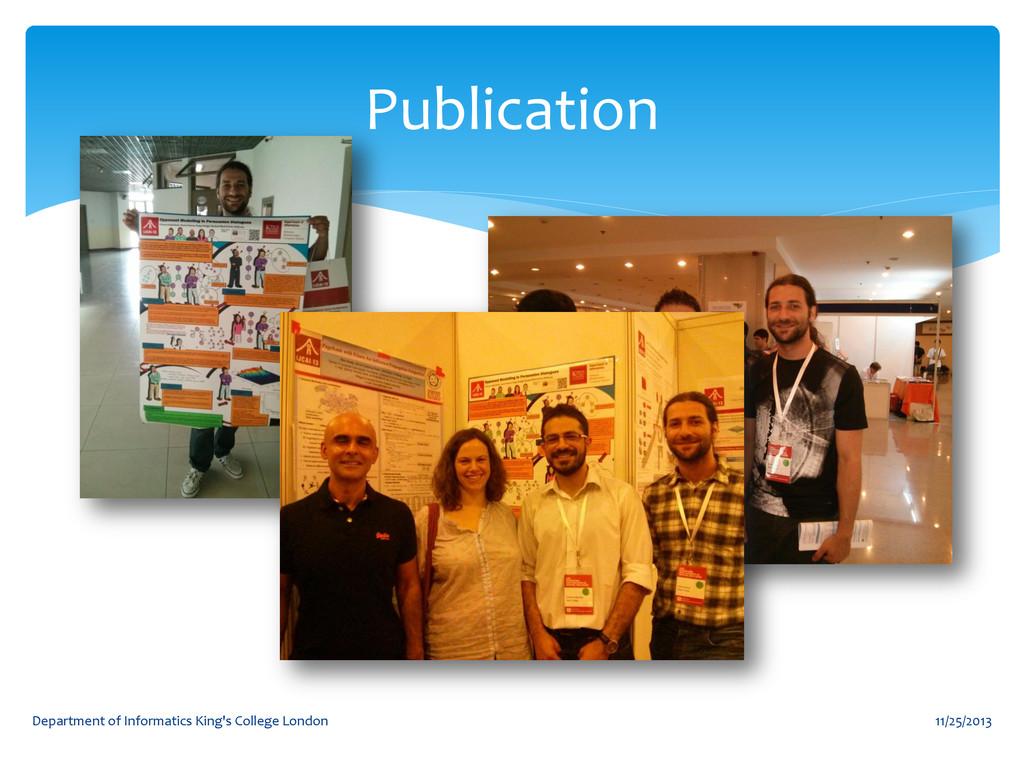 Publication 11/25/2013 Department of Informatic...