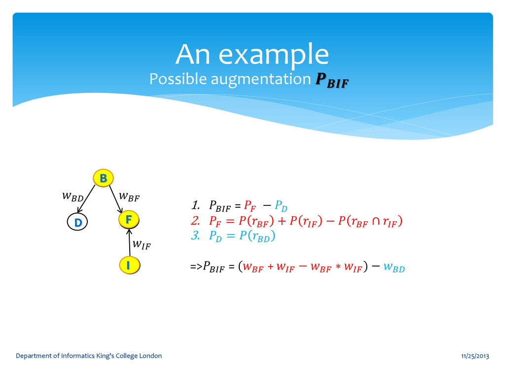 An example 11/25/2013 Department of Informatics...