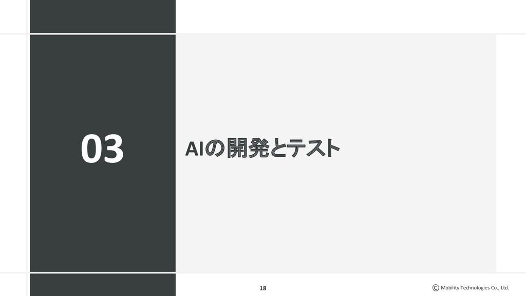 Mobility Technologies Co., Ltd. AIの開発とテスト 18 03