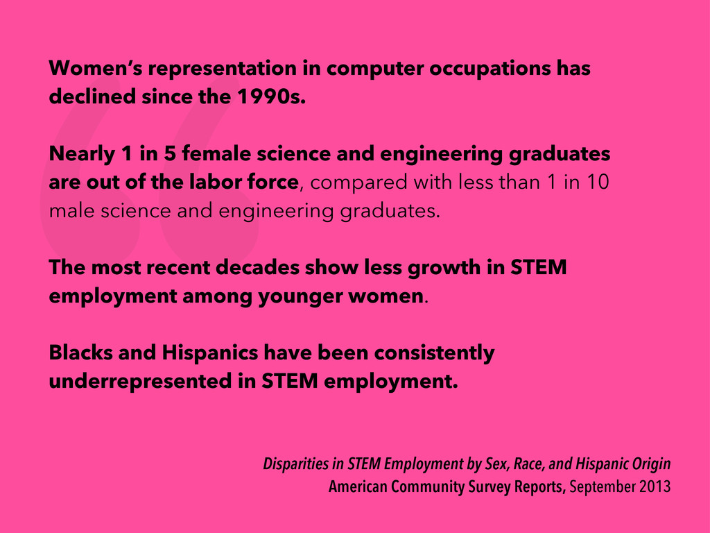 Disparities in STEM Employment by Sex, Race, an...
