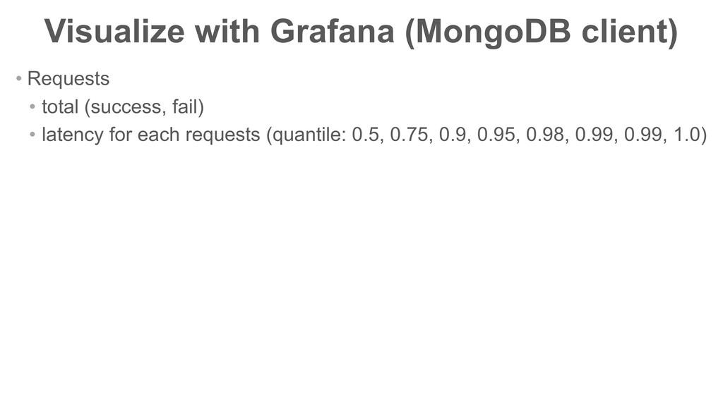 Visualize with Grafana (MongoDB client) • Reque...