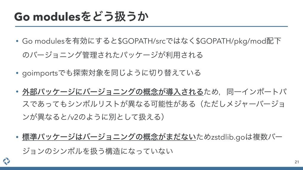 • Go modulesΛ༗ޮʹ͢Δͱ$GOPATH/srcͰͳ͘$GOPATH/pkg/m...