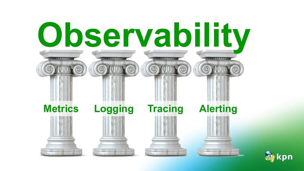 Observability Metrics Logging Tracing Alerting