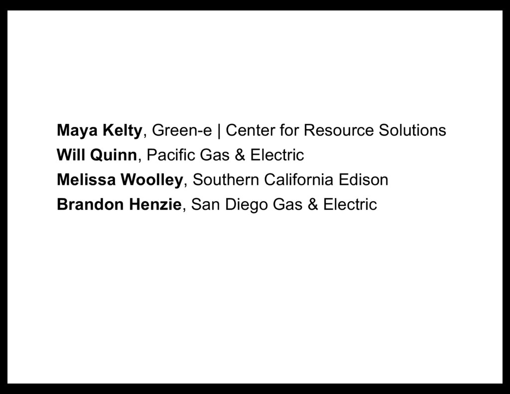 Maya Kelty, Green-e | Center for Resource Solut...