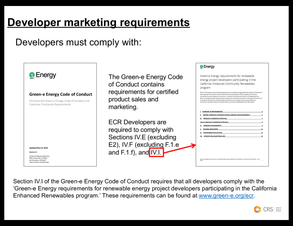 Developers must comply with: Developer marketin...