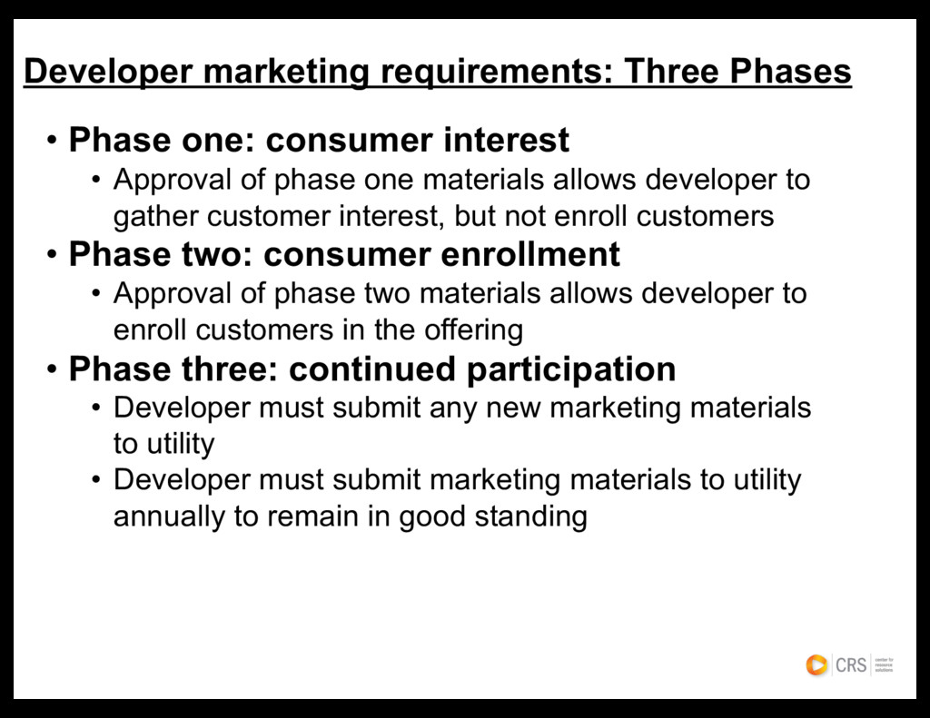 • Phase one: consumer interest • Approval of ph...