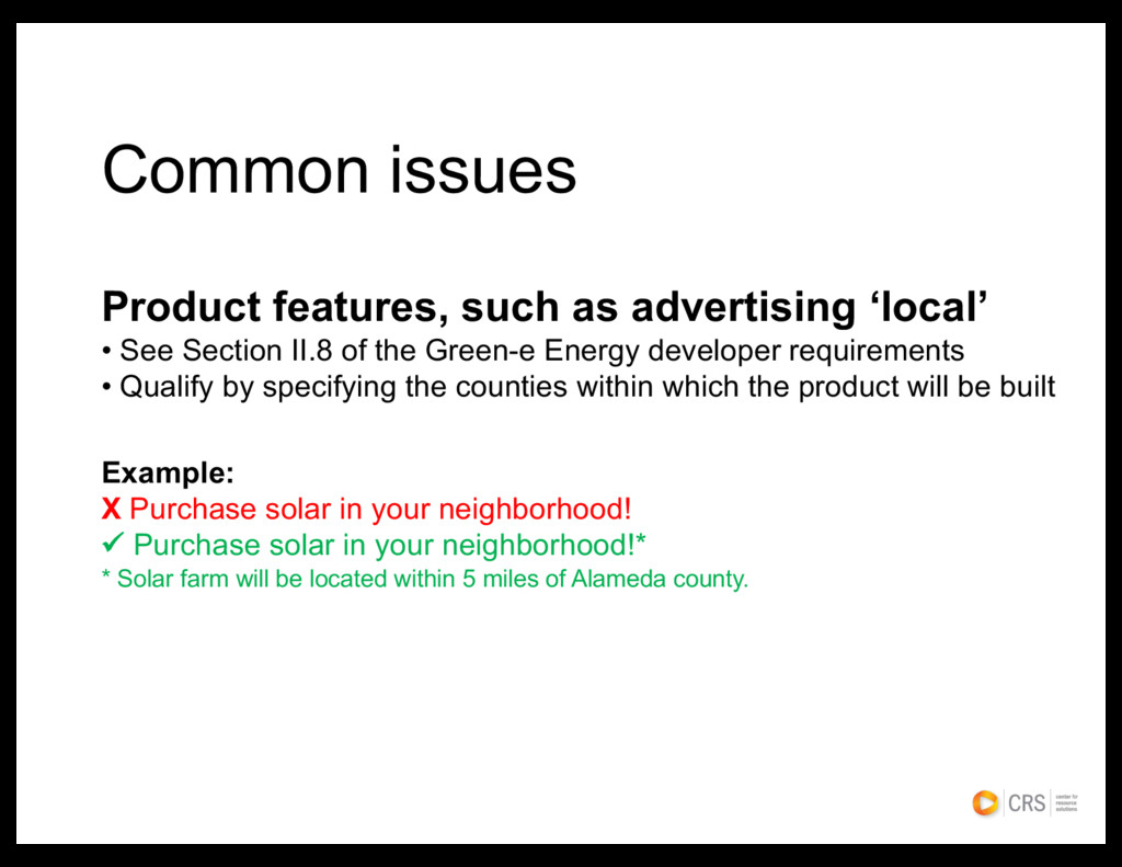 Common issues Product features, such as adverti...