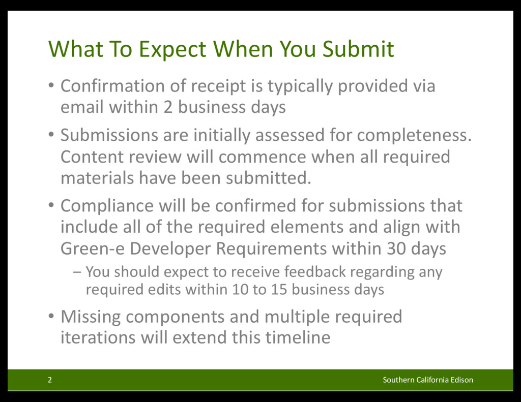 What To Expect When You Submit • Confirmation o...