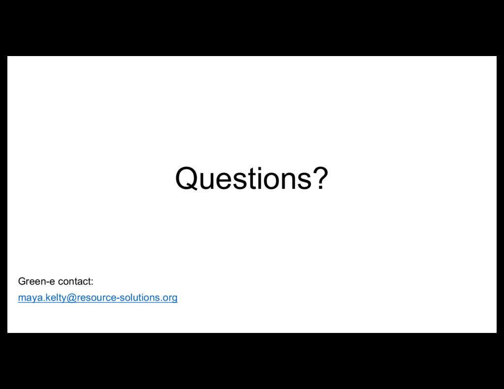 Questions? Green-e contact: maya.kelty@resource...
