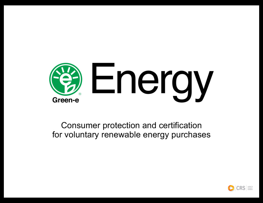 Consumer protection and certification for volun...