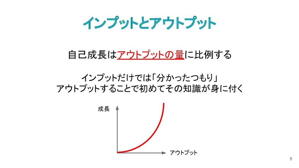 インプットとアウトプット 自己成長はアウトプットの量に比例する インプットだけでは「分かったつ...
