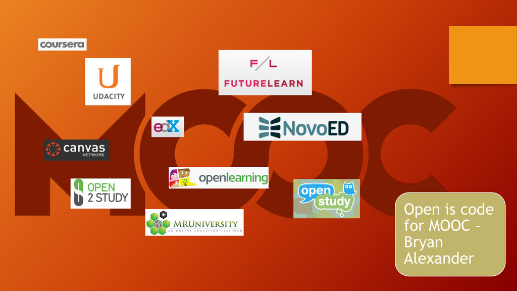 Open is code for MOOC – Bryan Alexander