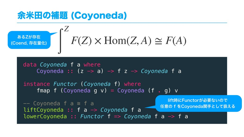༨ถాͷิ୊ $PZPOFEB  data Coyoneda f a where Coyon...