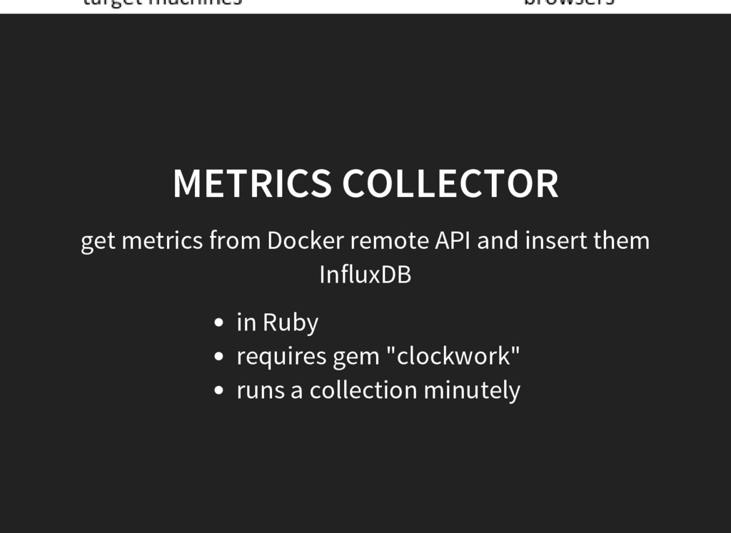 METRICS COLLECTOR get metrics from Docker remot...