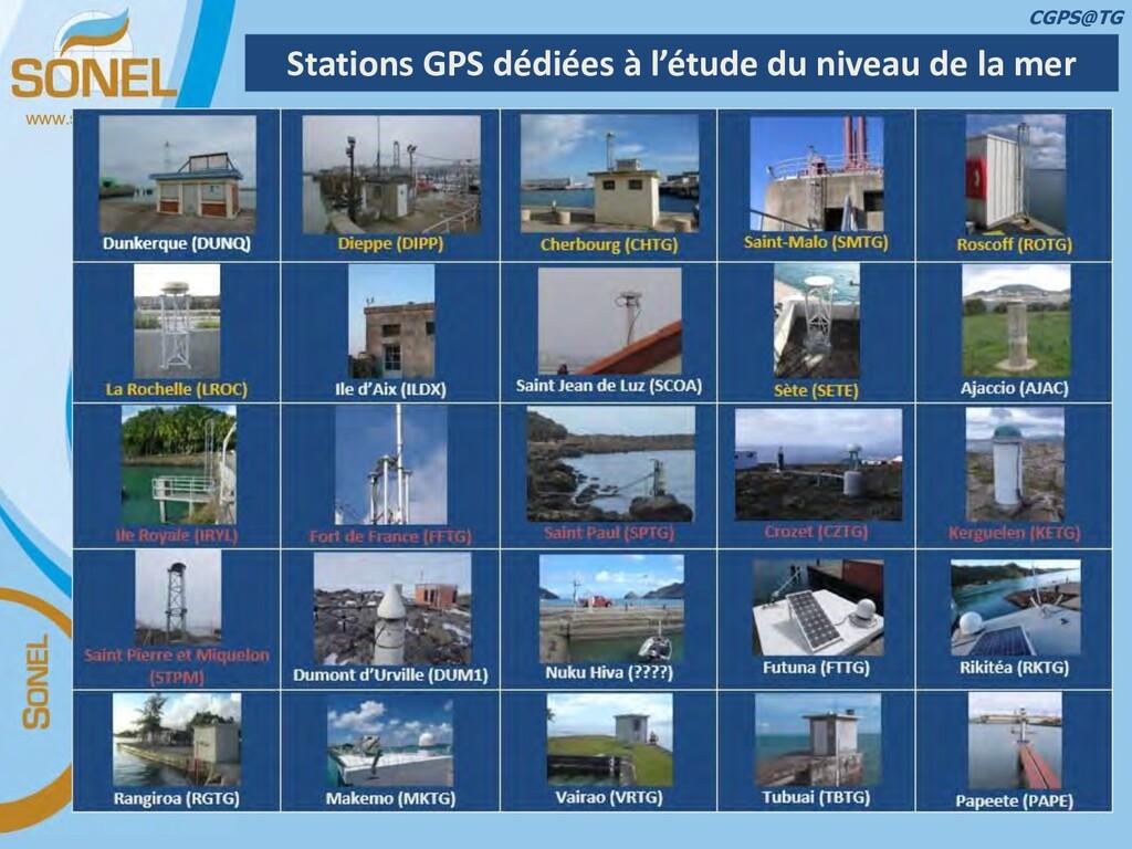www.sonel.org Stations GPS dédiées à l'étude du...