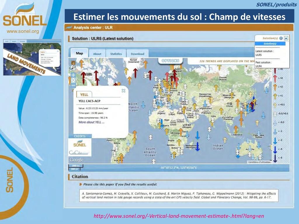 www.sonel.org Estimer les mouvements du sol : C...