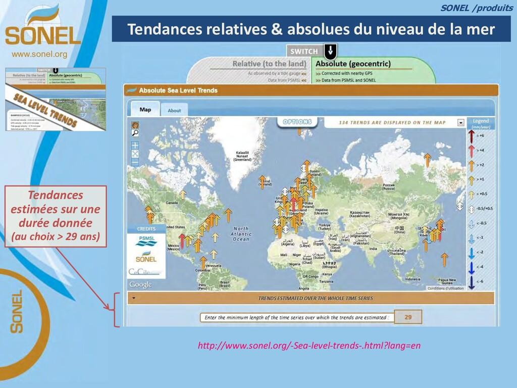 www.sonel.org Tendances relatives & absolues du...