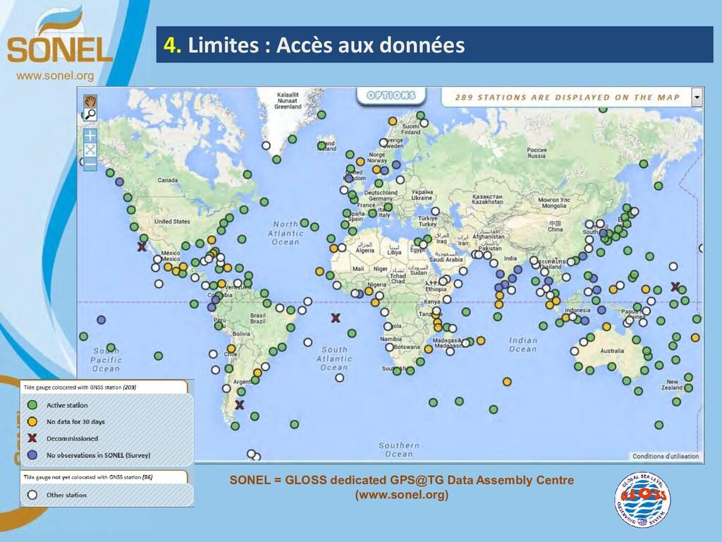 www.sonel.org 4. Limites : Accès aux données SO...