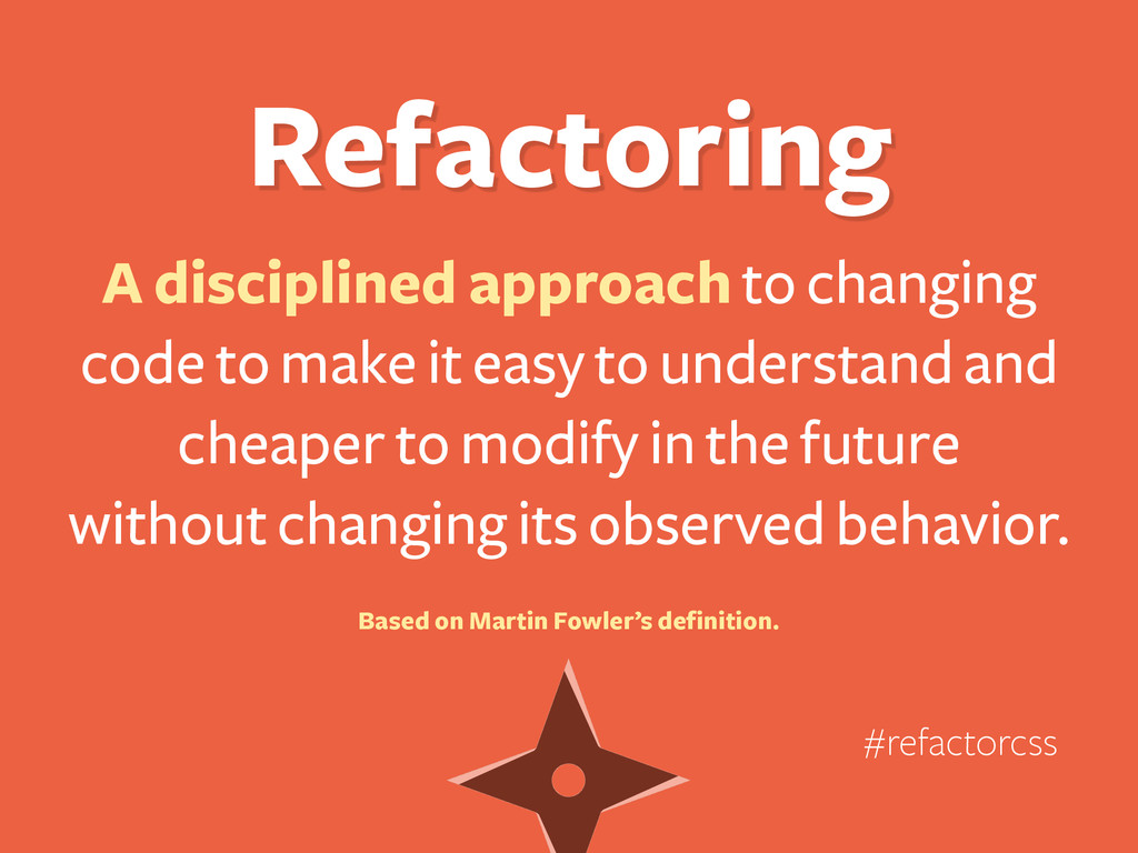 Refactoring A disciplined approach to changing ...