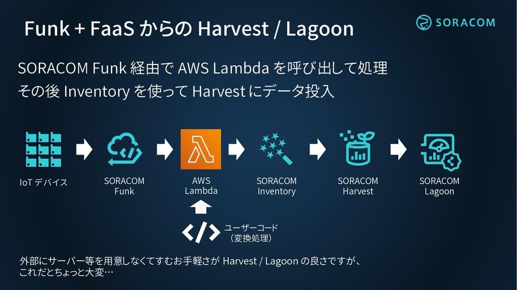 Funk + FaaS からの Harvest / Lagoon SORACOM Funk 経...