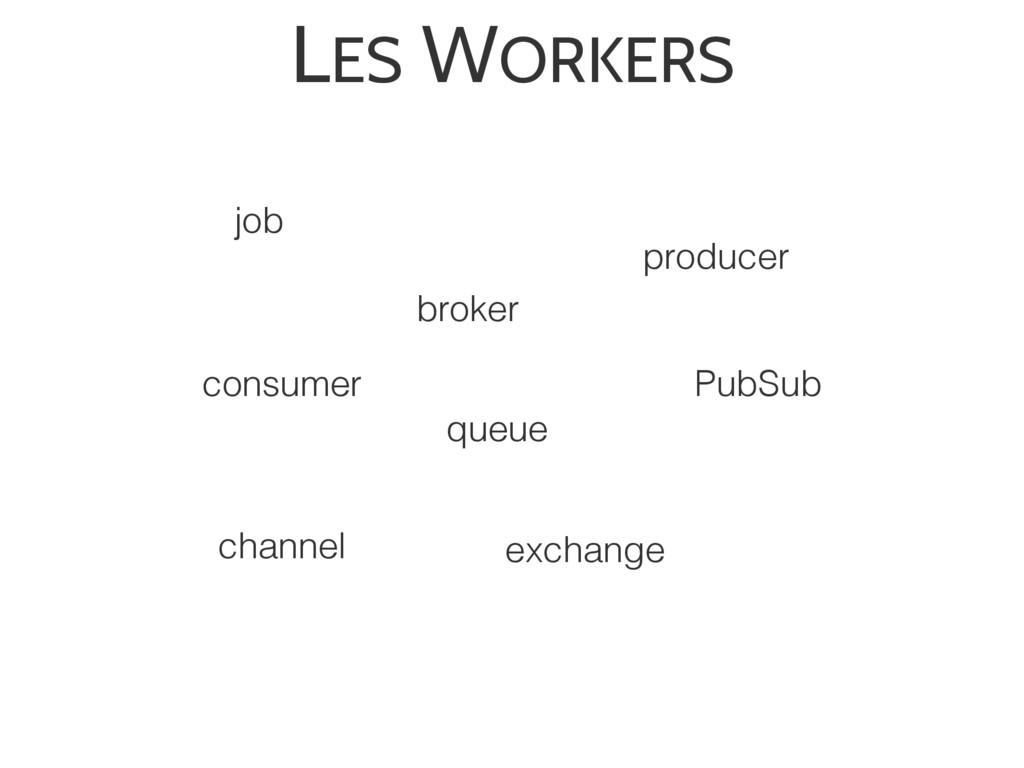 LES WORKERS broker queue consumer producer job ...