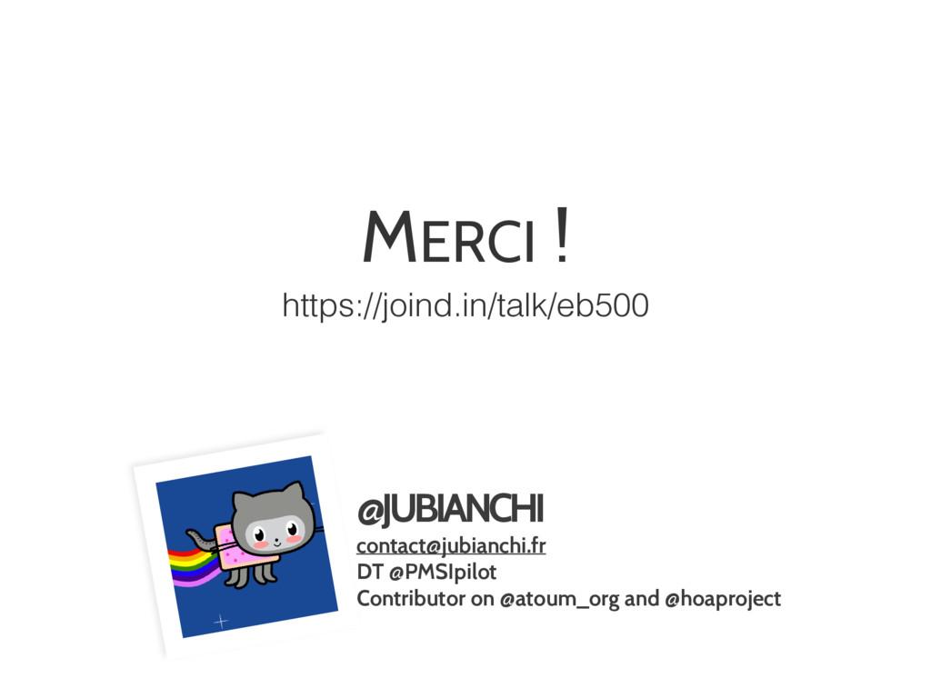@JUBIANCHI contact@jubianchi.fr DT @PMSIpilot C...