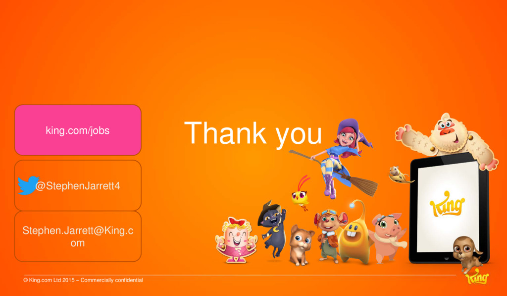 Thank you © King.com Ltd 2015 – Commercially co...