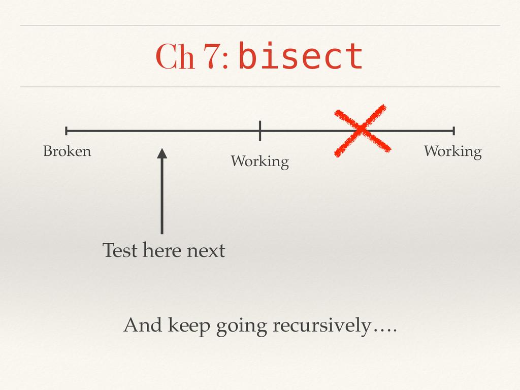 Ch 7: bisect Broken Working Working Test here n...