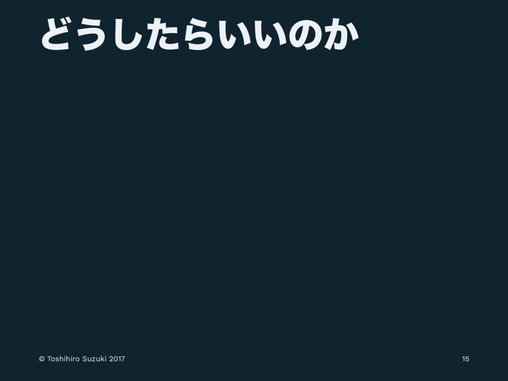 Ͳ͏ͨ͠Β͍͍ͷ͔ © Toshihiro Suzuki 2017 15