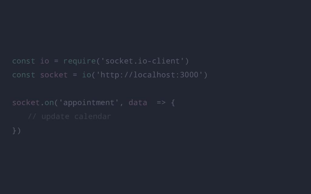 const io = require('socket.io-client') const so...